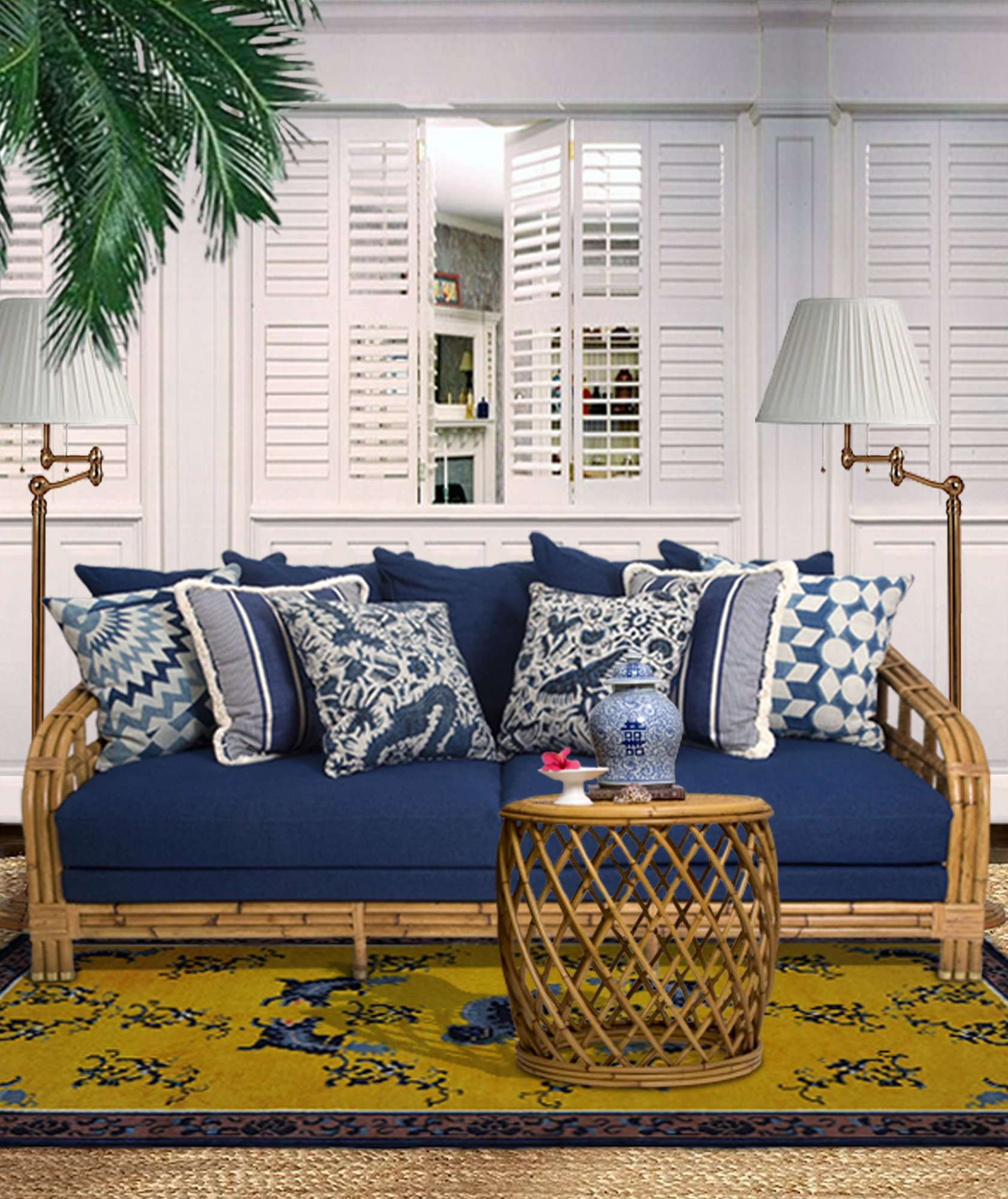 ALA MOANA SOFA RIGHT HAND - STUART MEMBERY HOME COLLECTION