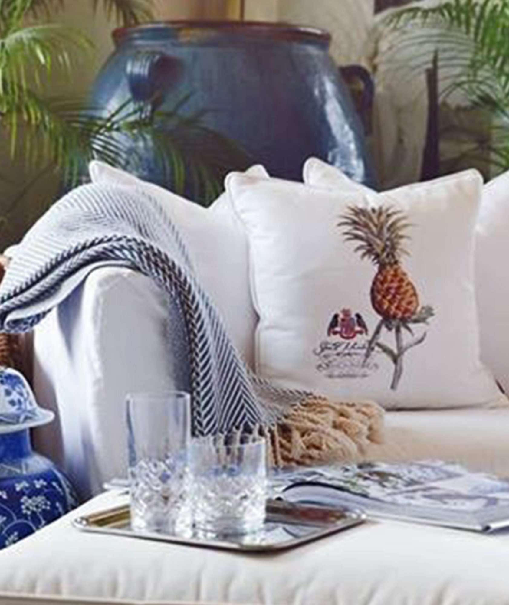 STUART MEMBERY HOME COLLECTION BAHAMA PINEAPPLE www.stuartmemberyhome.com
