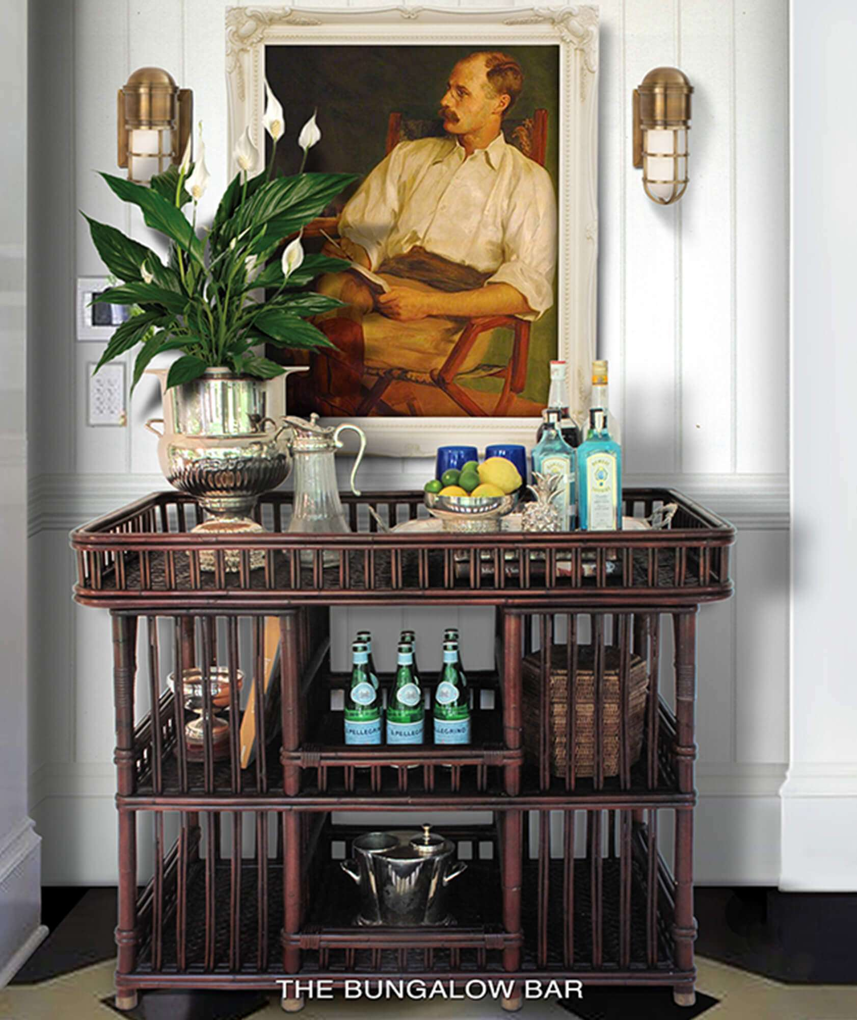 BUNGALOW BAR RIGHTHAND 1 - STUART MEMBERY HOME COLLECTION