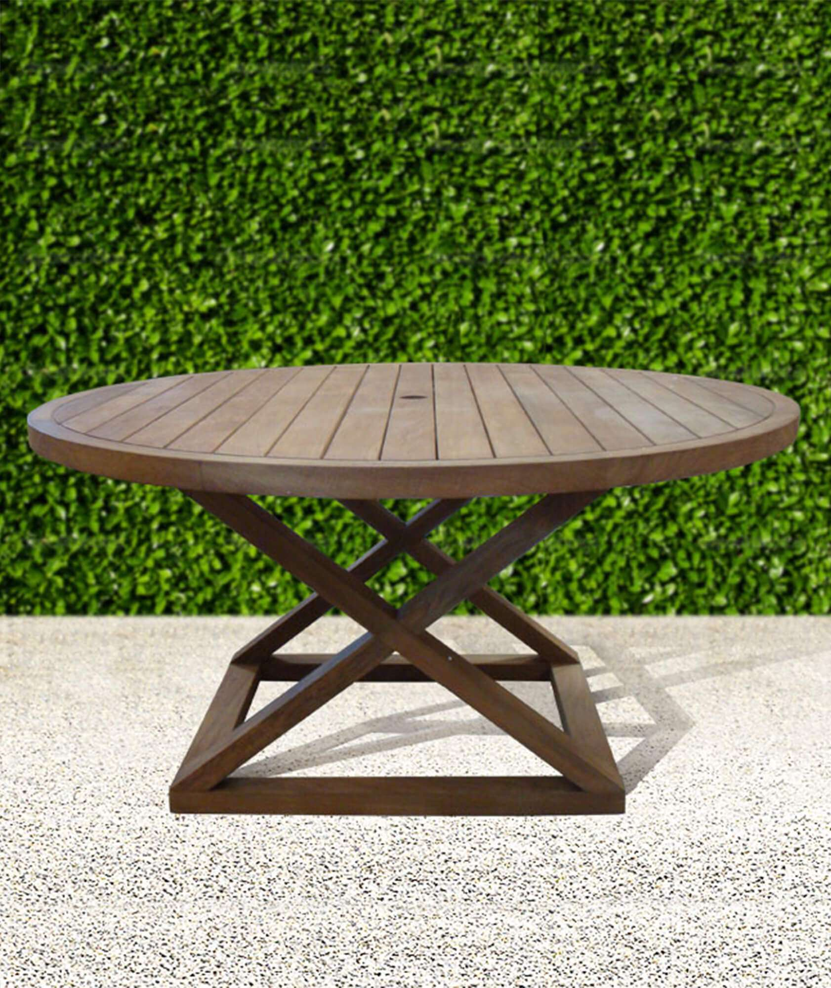CAMPAIGN OUTDOOR DINING TABLE 2 - STUART MEMBERY HOME COLLECTION