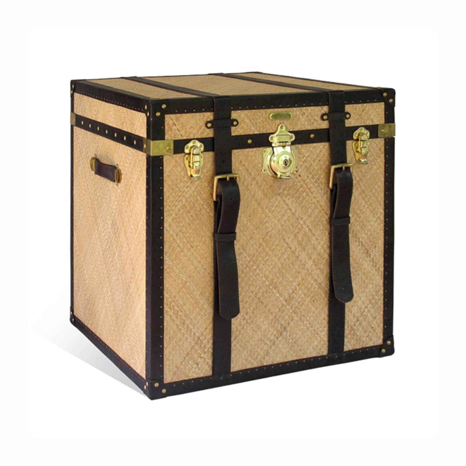 STUART MEMBERY HOME COLLECTION EAST INDIA RATTAN TRUNK