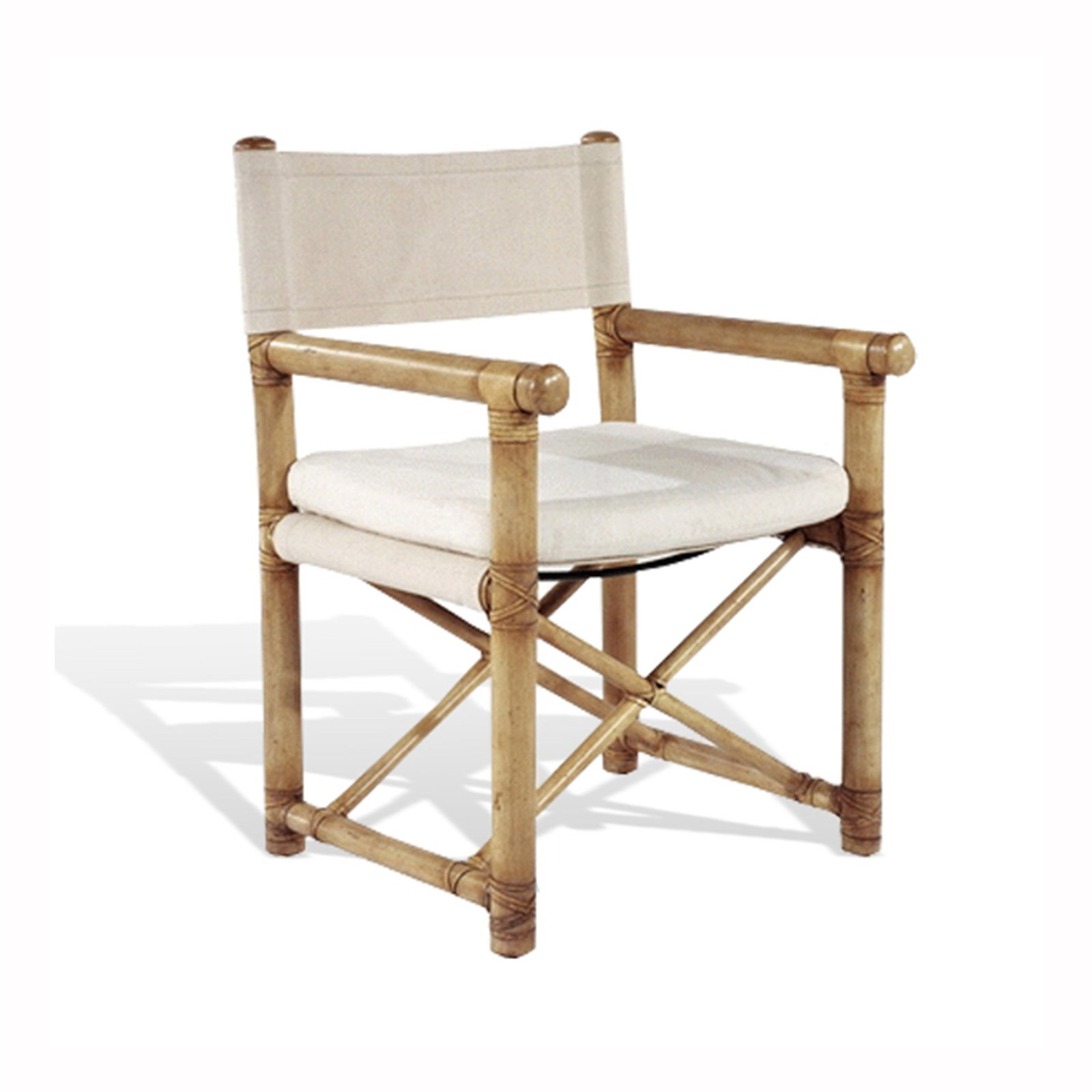 FAUX BAMBOO DIRECTORS CHAIR - STUART MEMBERY HOME COLLECTION