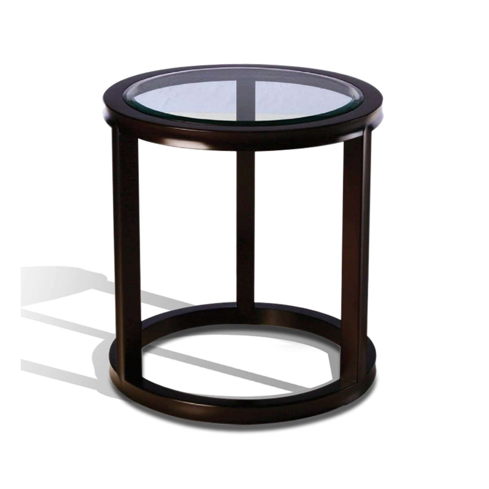 FIFTH AVE ROUND SIDE TABLE - STUART MEMBERY HOME COLLECTION
