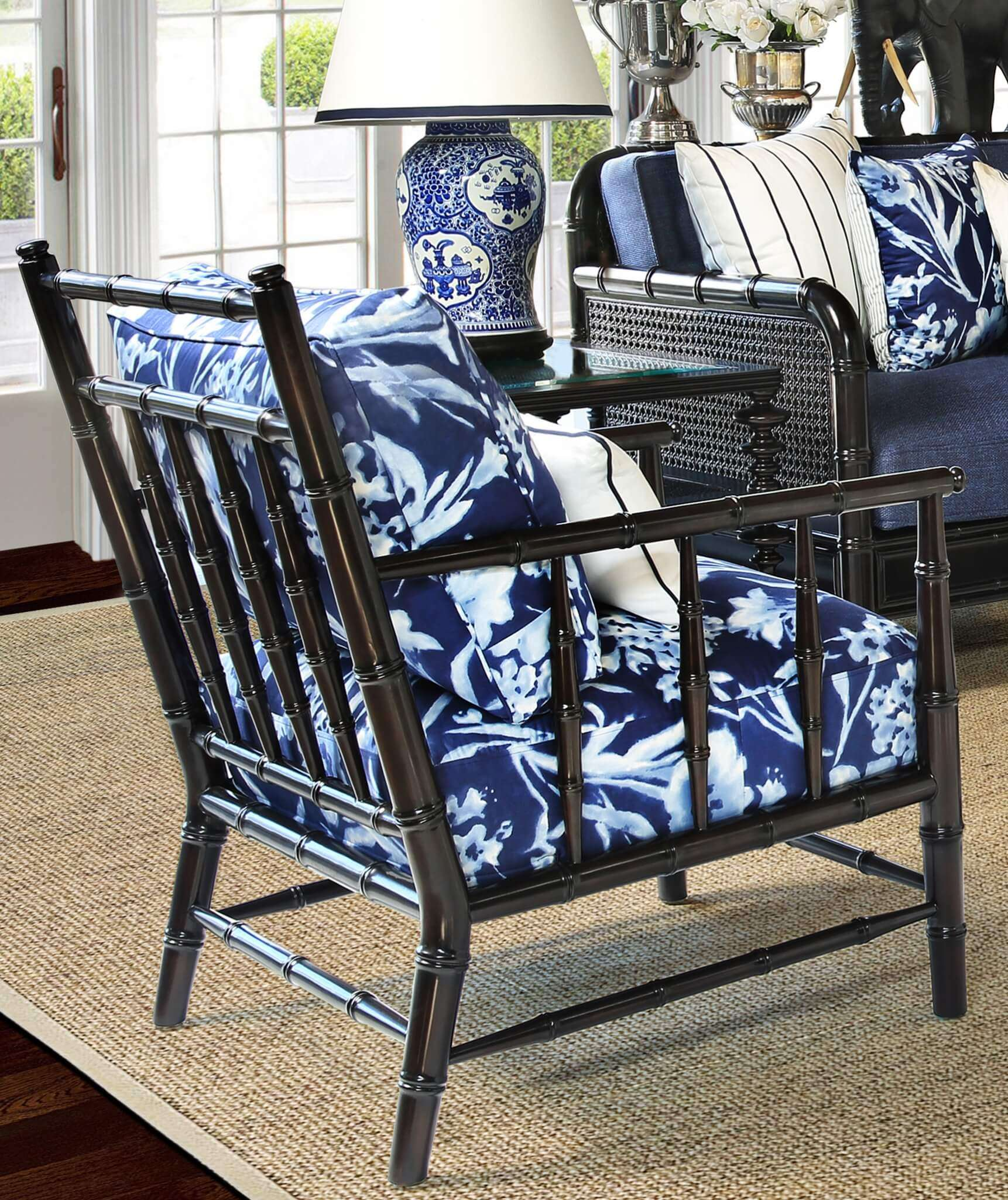 H CAPE COLONY CLUB CHAIR  - STUART MEMBERY HOME COLLECTION