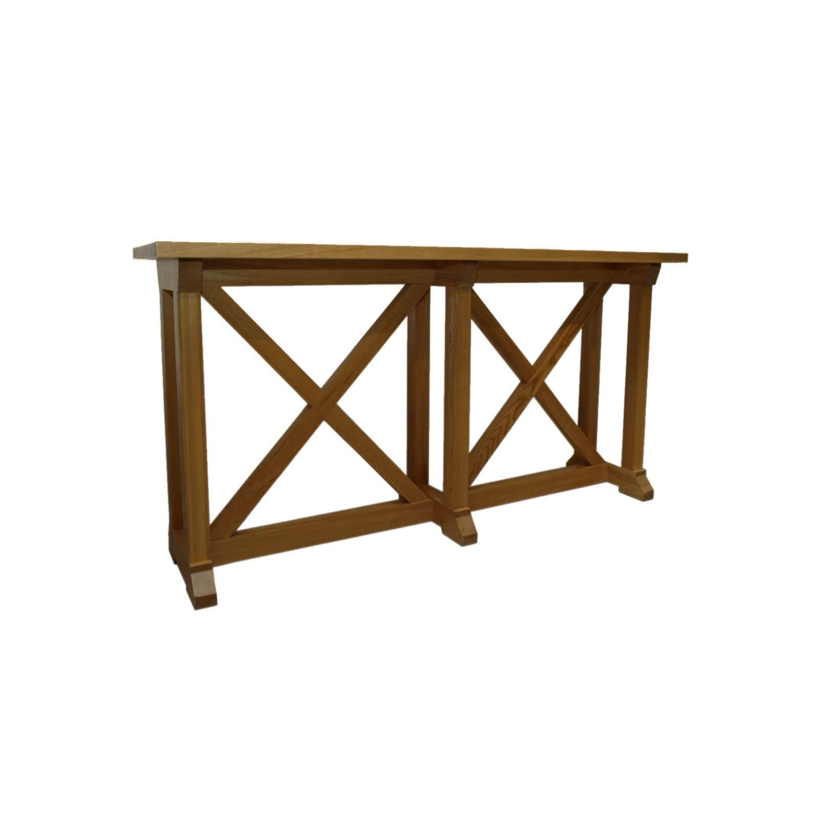 console table, walnut console table, hamptons console, x brace console