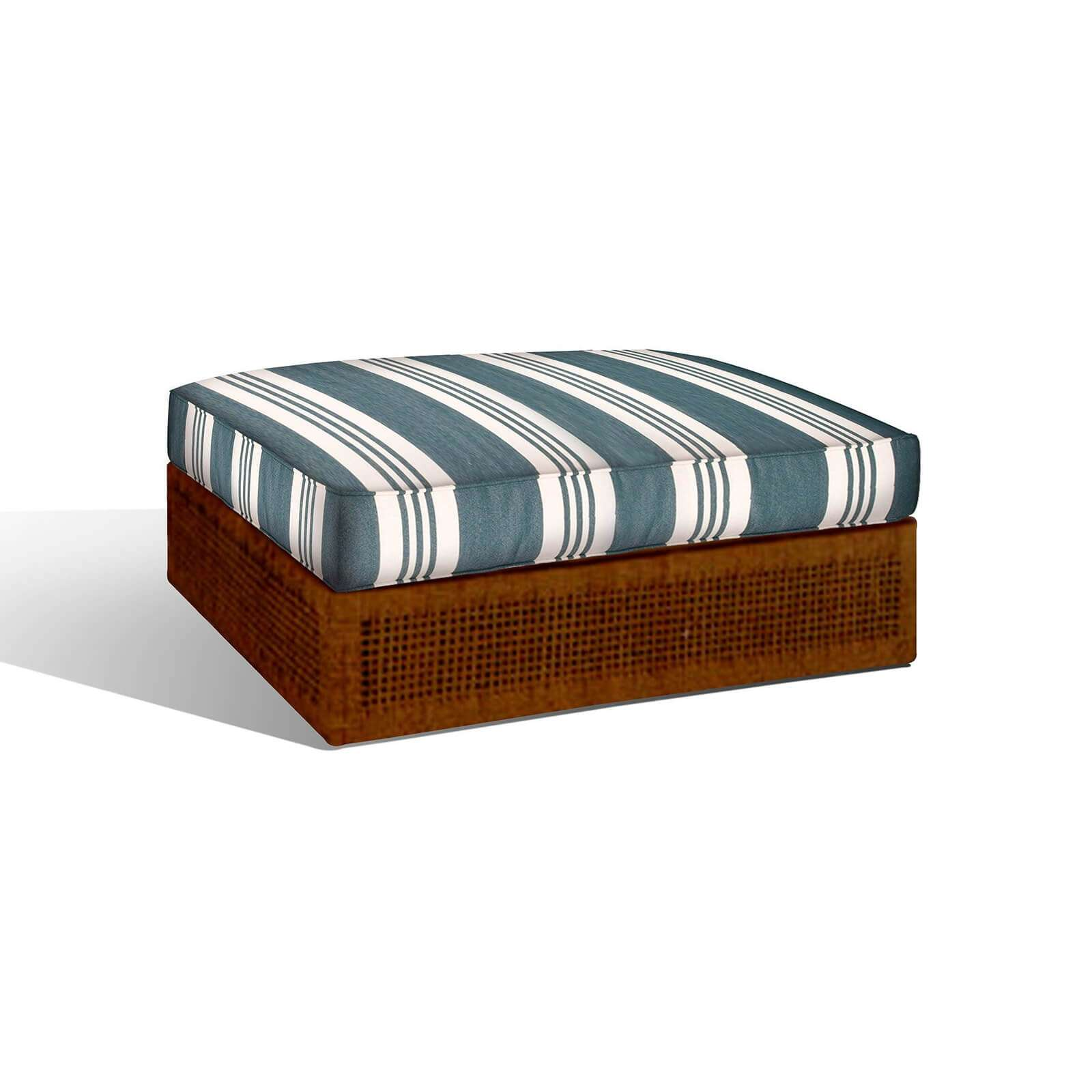 HARBOR ISLAND OTTOMAN 1 - STUART MEMBERY HOME COLLECTION
