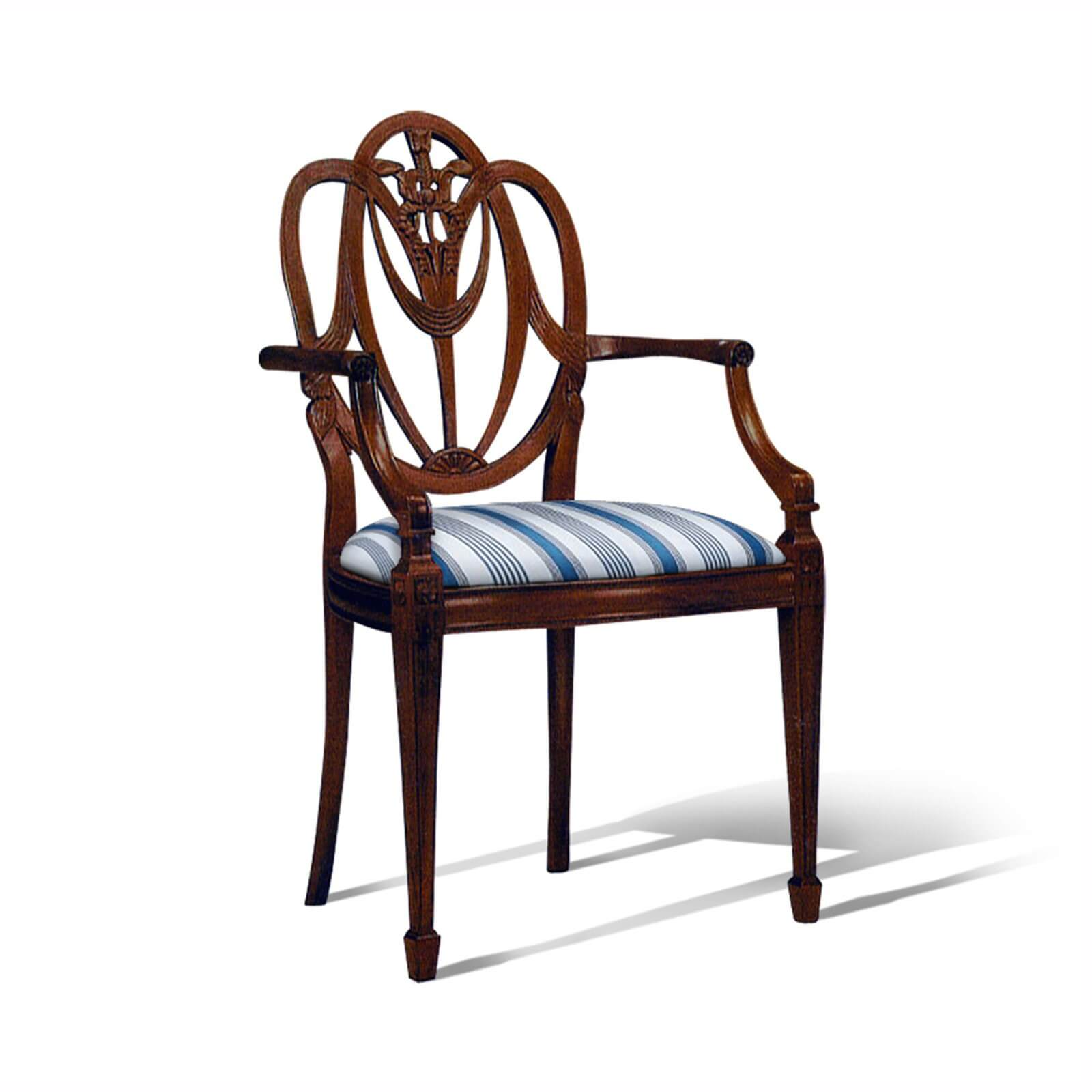 HEPPLEWHITE ARM CHAIR - STUART MEMBERY HOME COLLECTION