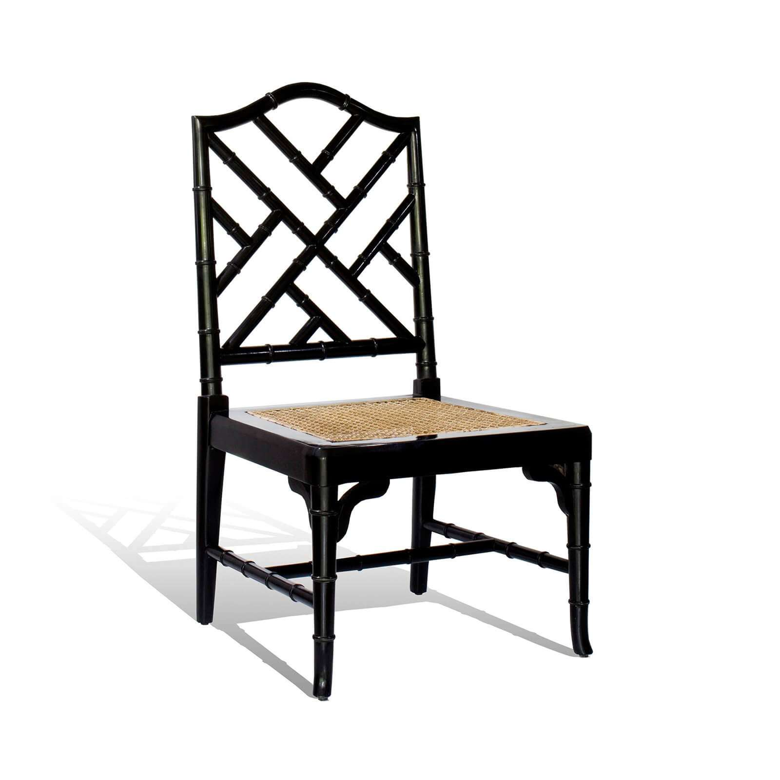 HOLLYWOOD FAUX BAMBOO SIDE CHAIR - STUART MEMBERY HOME COLLECTION