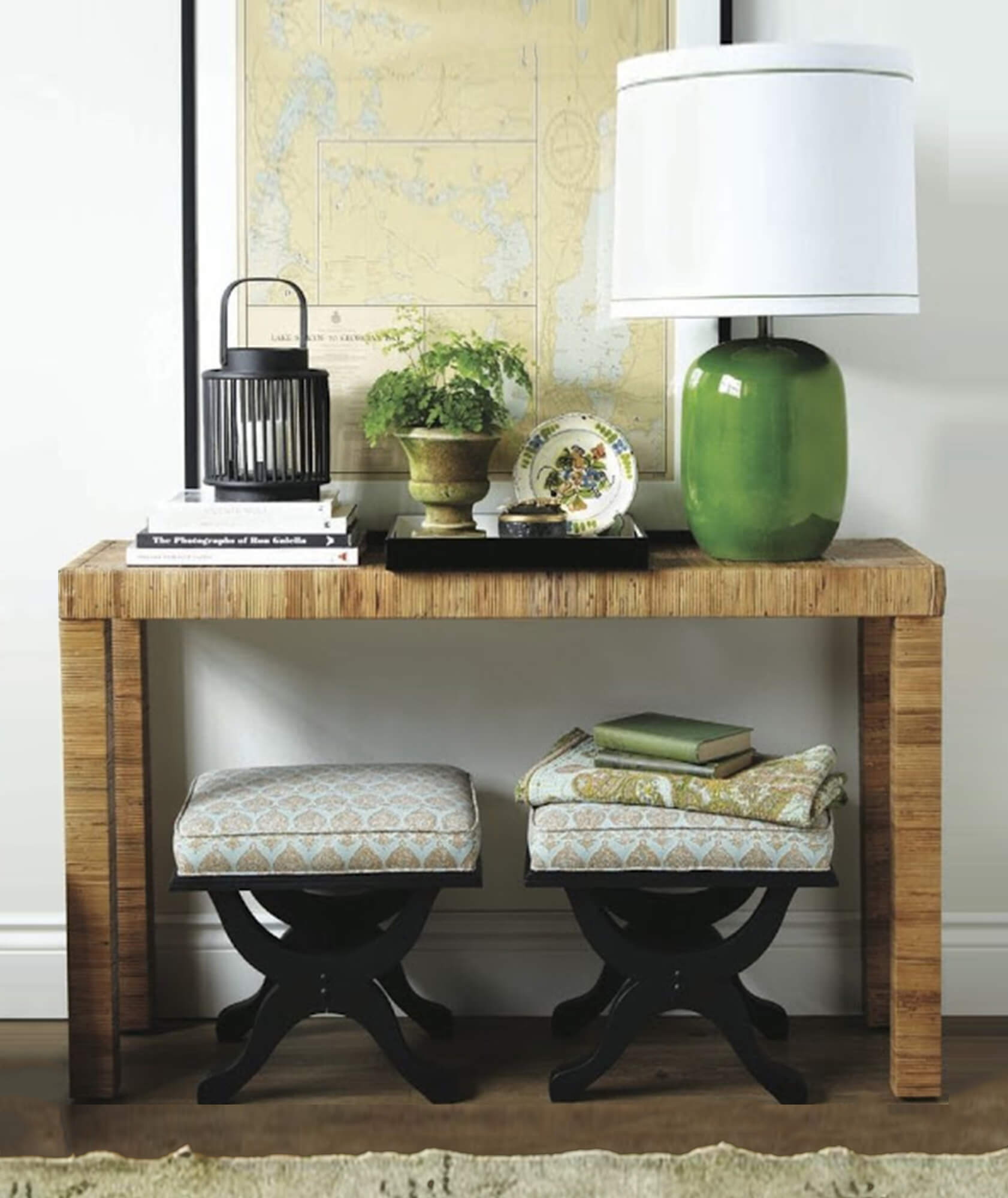 rattan console, rattan furniture