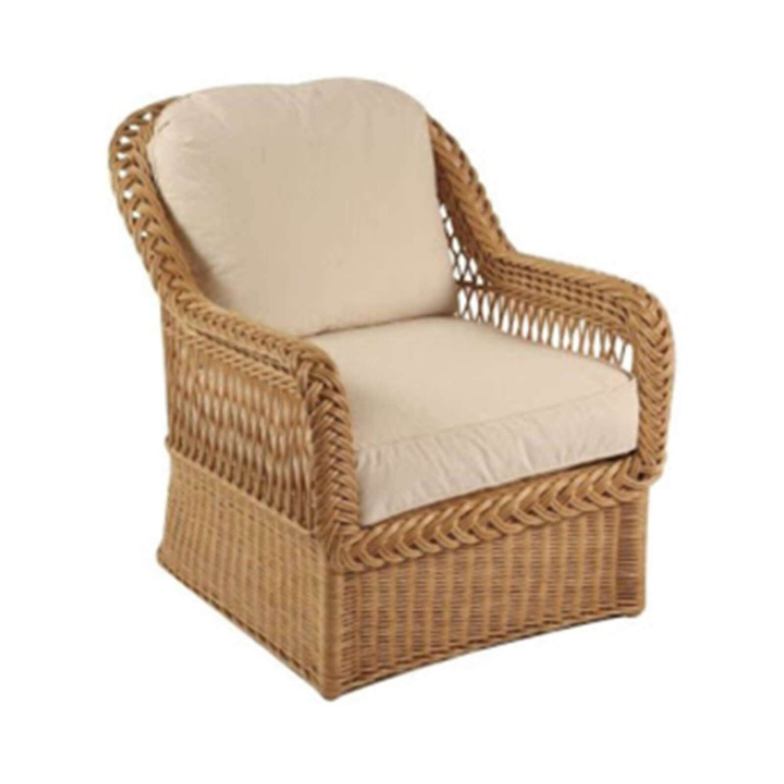 LAKE HOUSE WICKER CLUB CHAIR 11 - STUART MEMBERY HOME COLLECTION