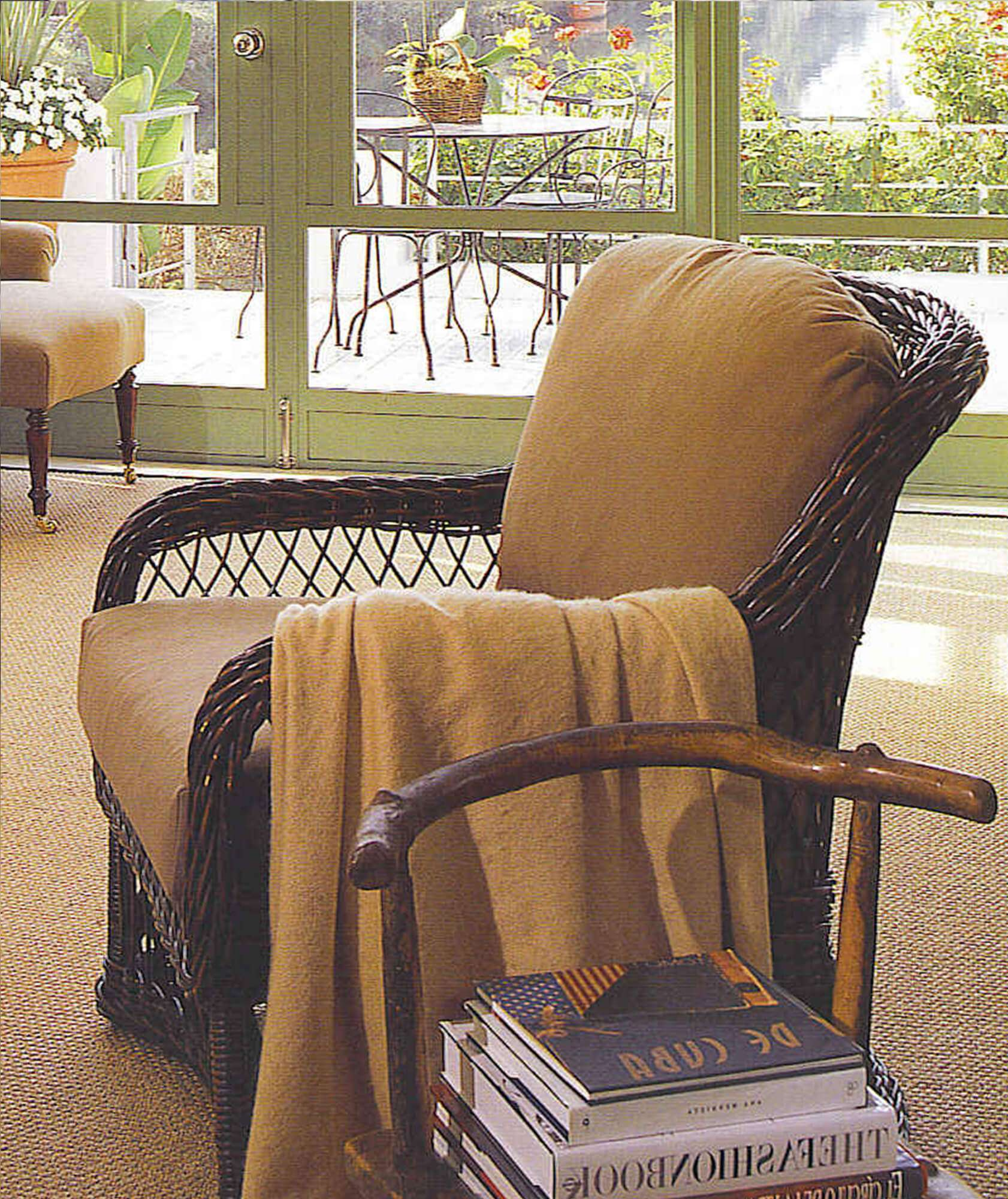 LAKE HOUSE WICKER CLUB CHAIR RIGHTHAND - STUART MEMBERY HOME COLLECTION