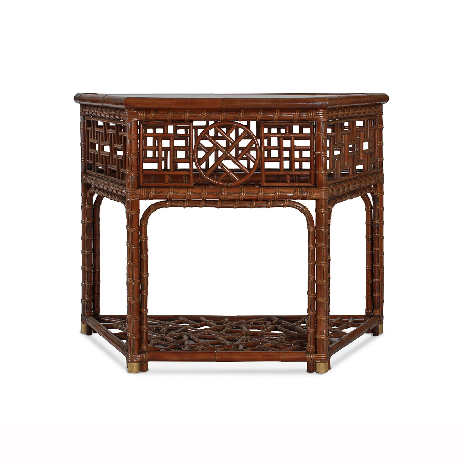 MANDALAY DEMI LUNE CONSOLE - STUART MEMBERY HOME COLLECTION
