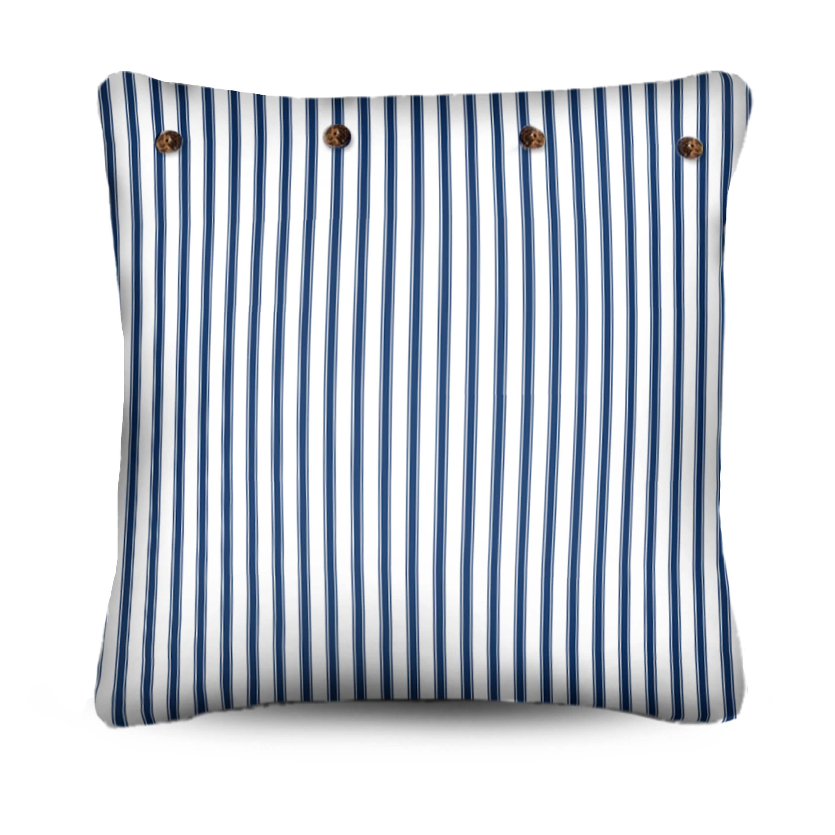 stuart membery pillow, ticking pillow cushion, blue and white stripe pillow
