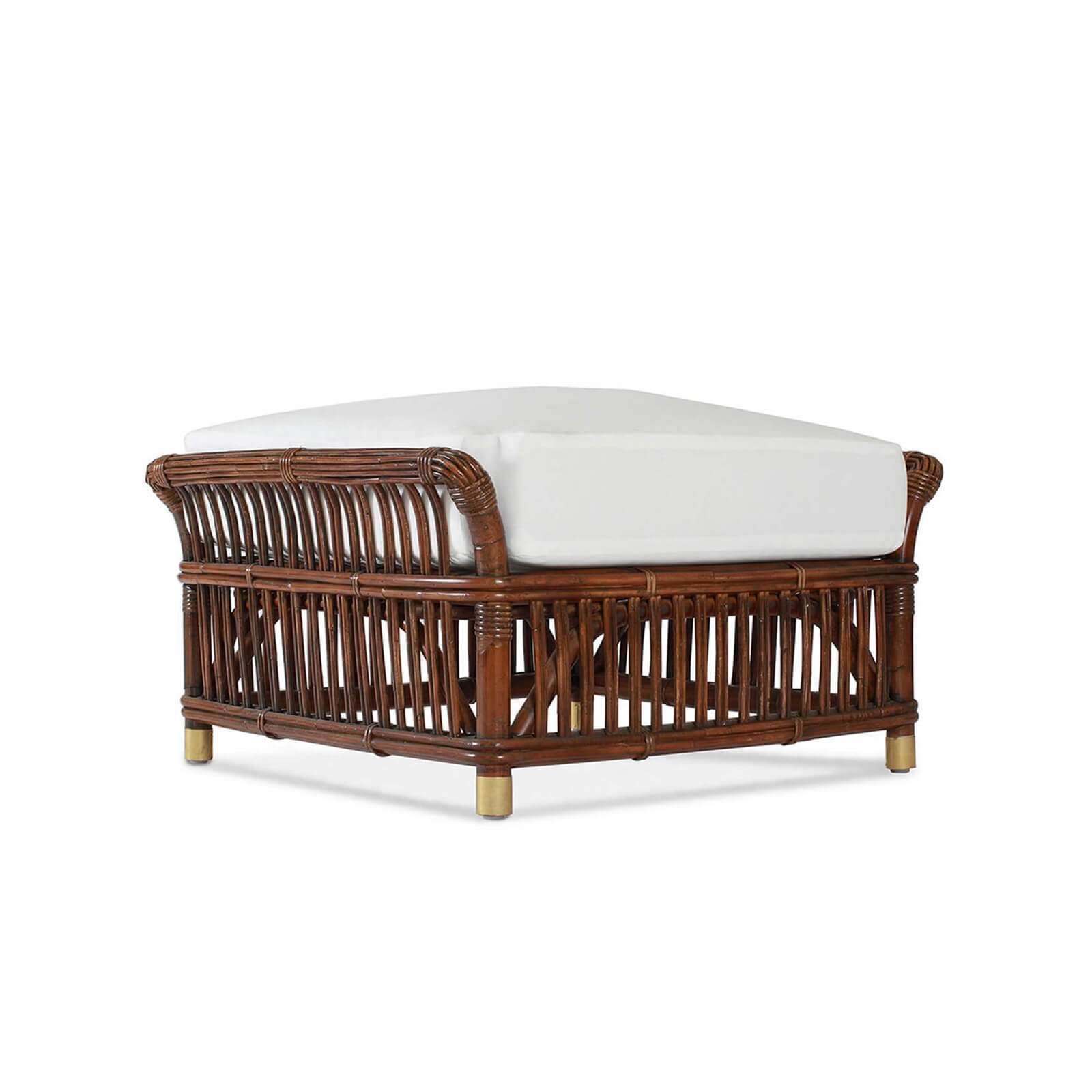 PARROT CAY OTTOMAN 012 - STUART MEMBERY HOME COLLECTION