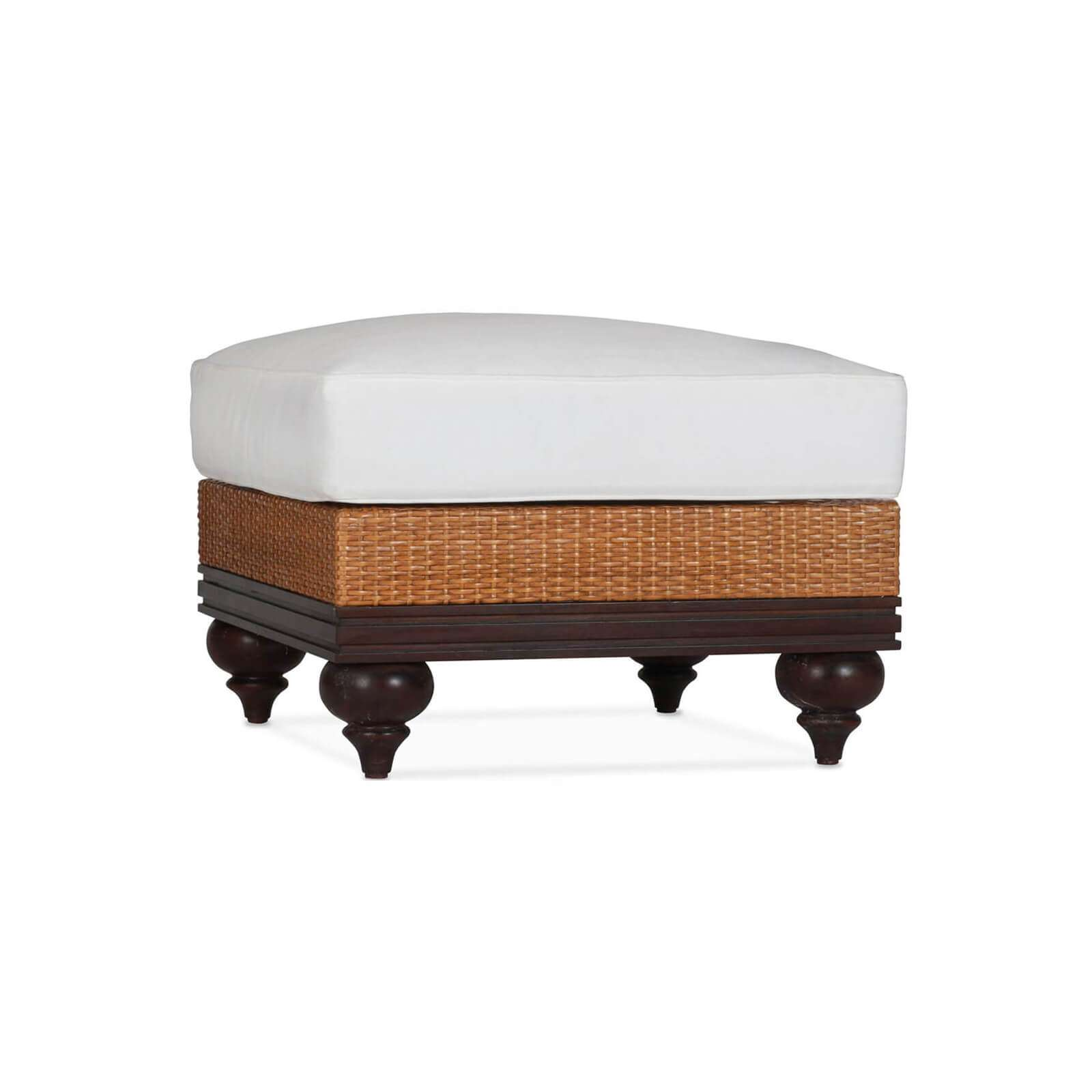 PLANTATION OTTOMAN 01 - STUART MEMBERY HOME COLLECTION
