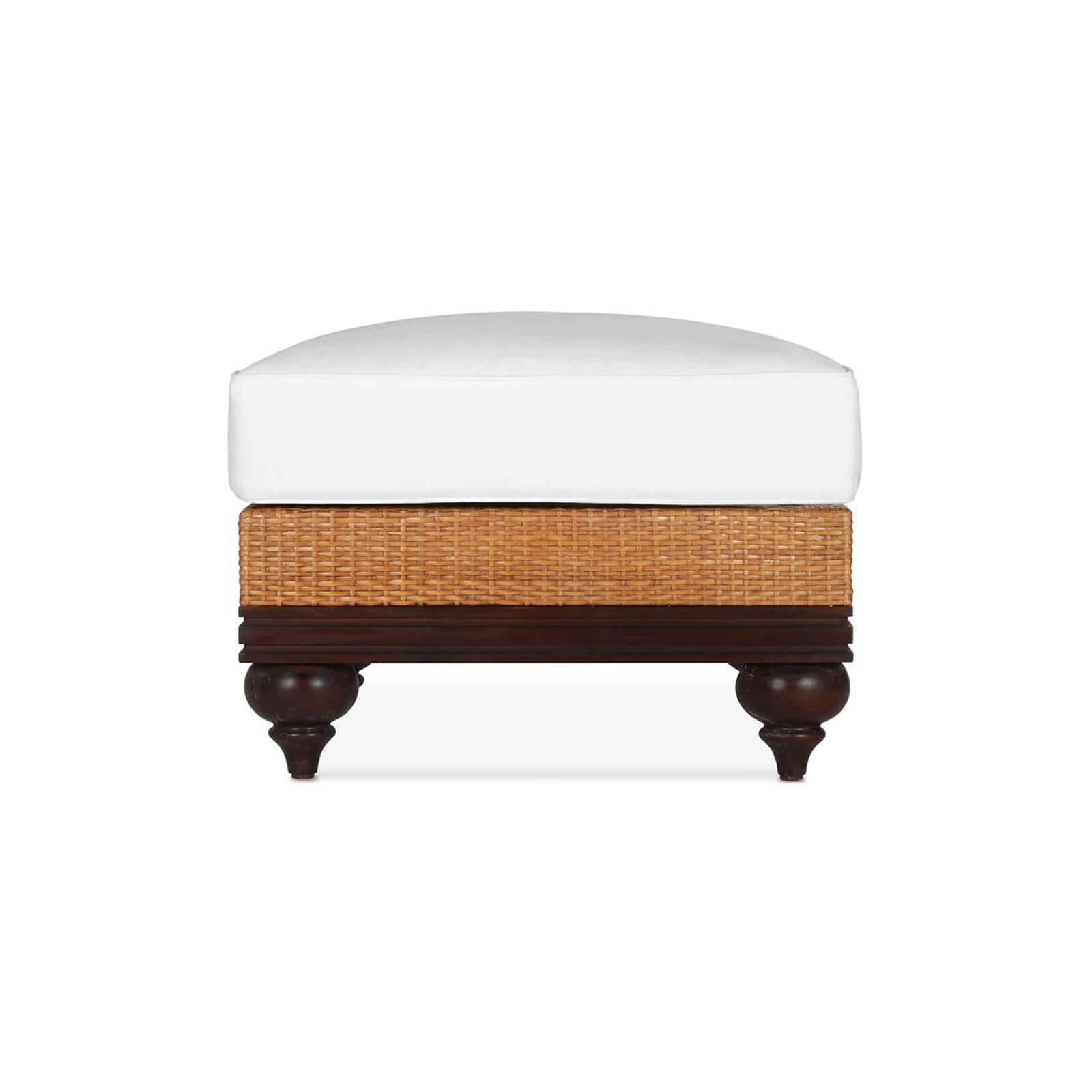 PLANTATION OTTOMAN 3 - STUART MEMBERY HOME COLLECTION