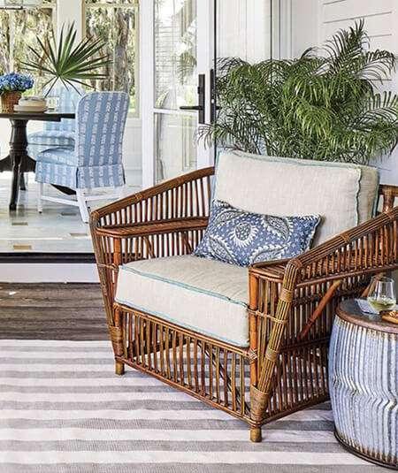 rattan club chair, furniture, vintage