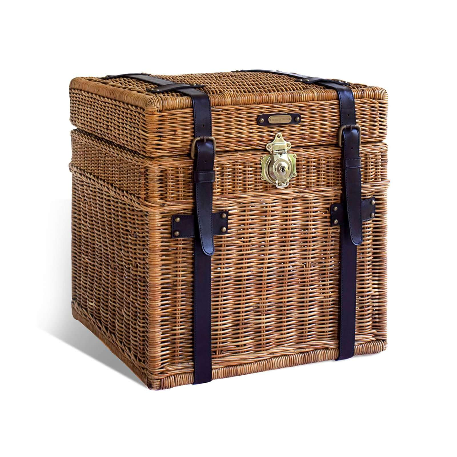 RATTAN SIDE TRUNK 1 - STUART MEMBERY HOME COLLECTION