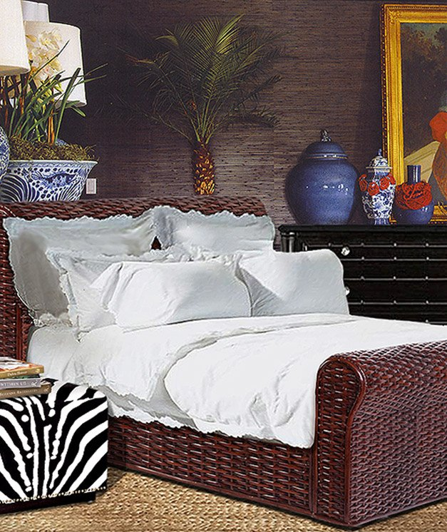 TUXEDO SLEIGH BED - STUART MEMBERY HOME COLLECTION