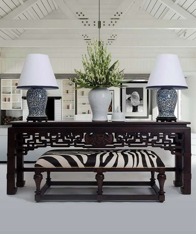 TEMPLE STREET CONSOLE - STUART MEMBERY HOME COLLECTION