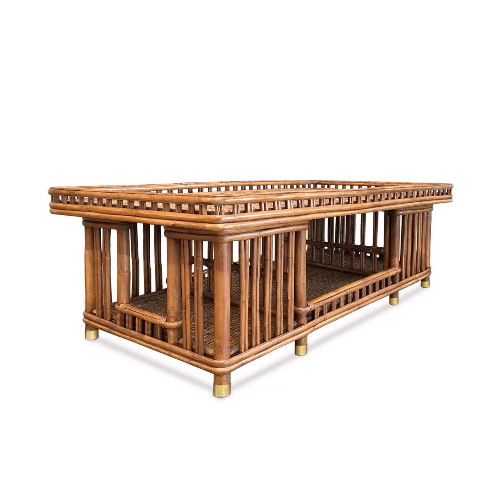 TB 449 BUNGALOW SOFA TABLE PERSPECTIVE - STUART MEMBERY HOME COLLECTION