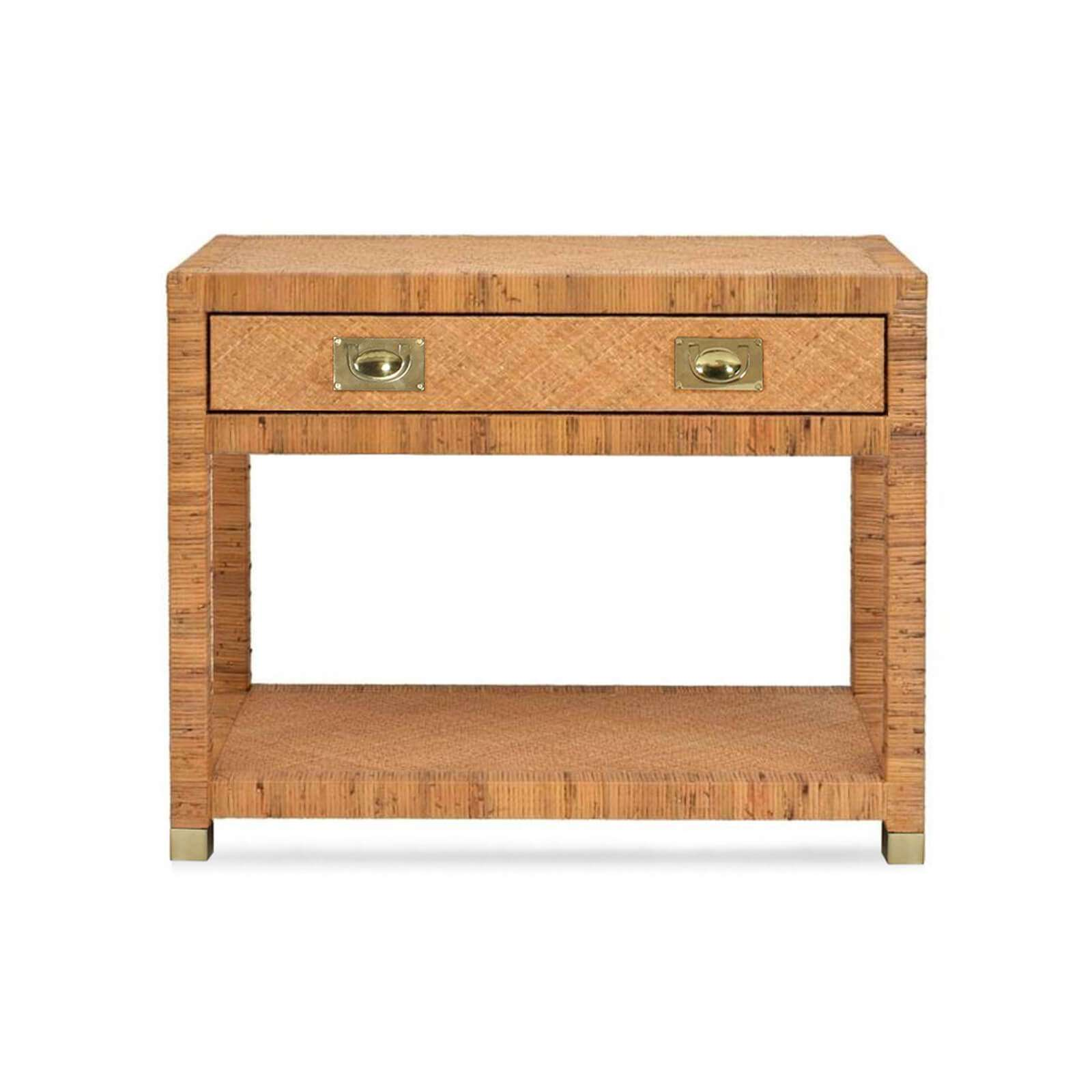 TB 536 INDIGO COAST BEDSIDE TABLE FRONT (2) - STUART MEMBERY HOME COLLECTION