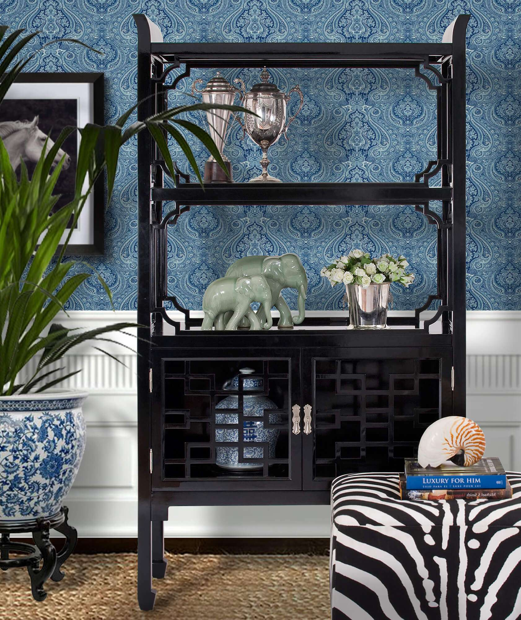 THE DYNASTY ETAGERE RIGHTHAND2 - STUART MEMBERY HOME COLLECTION