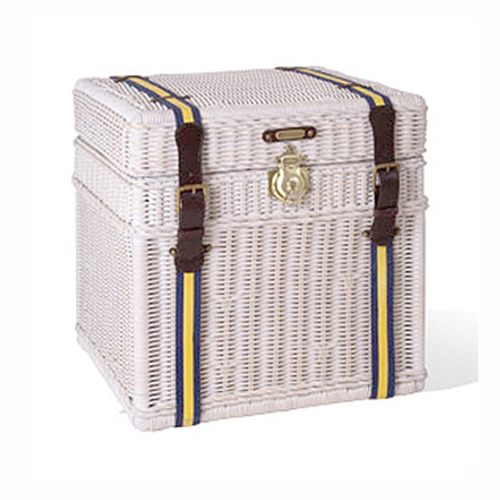 VARSITY WICKER TRUNK - STUART MEMBERY HOME COLLECTION