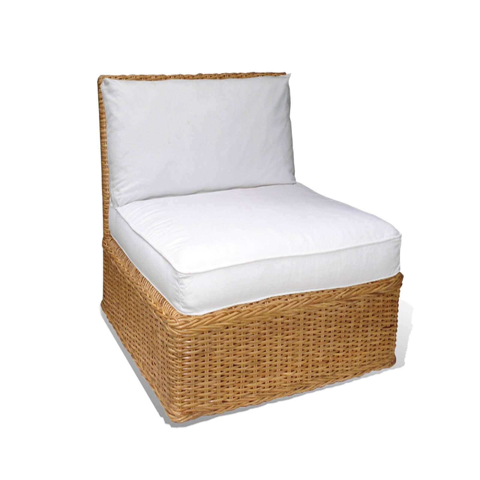 WICKER SLIPPER CHAIR 1 - STUART MEMBERY HOME COLLECTION