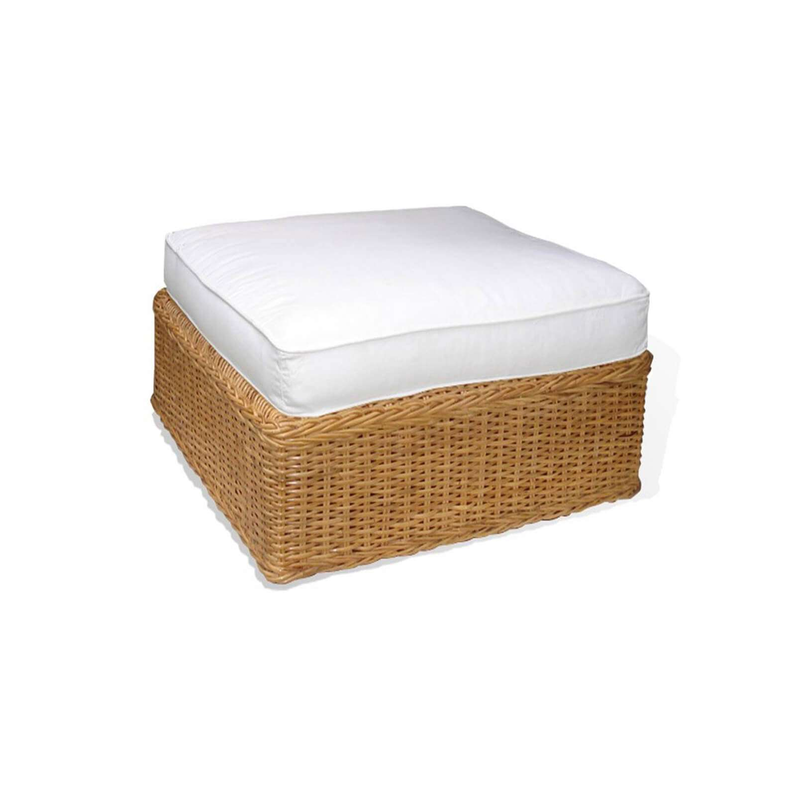 WICKER SLIPPER OTTOMAN 1 - STUART MEMBERY HOME COLLECTION