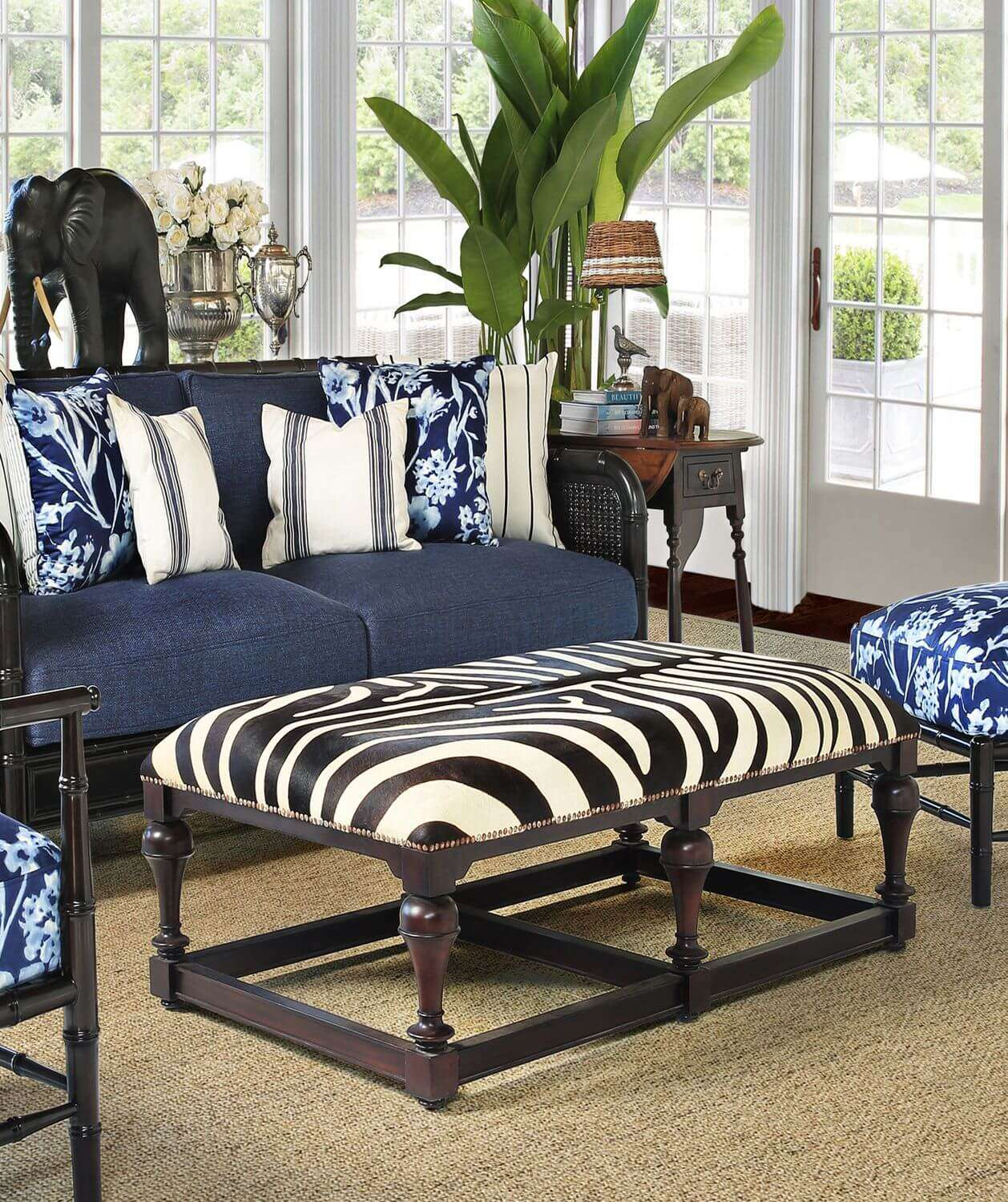 ZEBRA SOFA OTTOMAN - STUART MEMBERY HOME COLLECTION