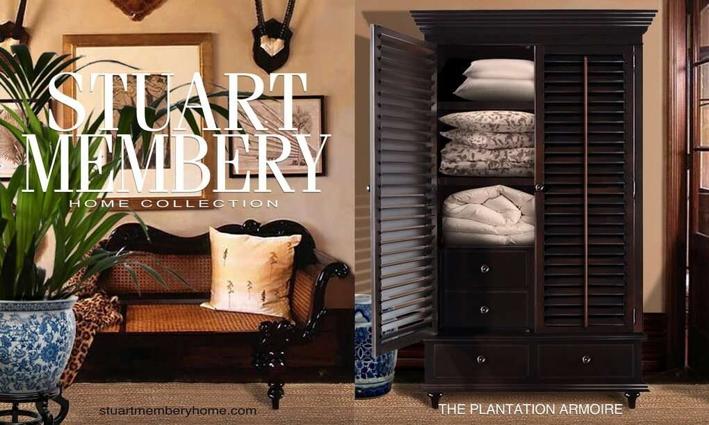 THE PLANTATION ARMOIRE - STUART MEMBERY HOME COLLECTION